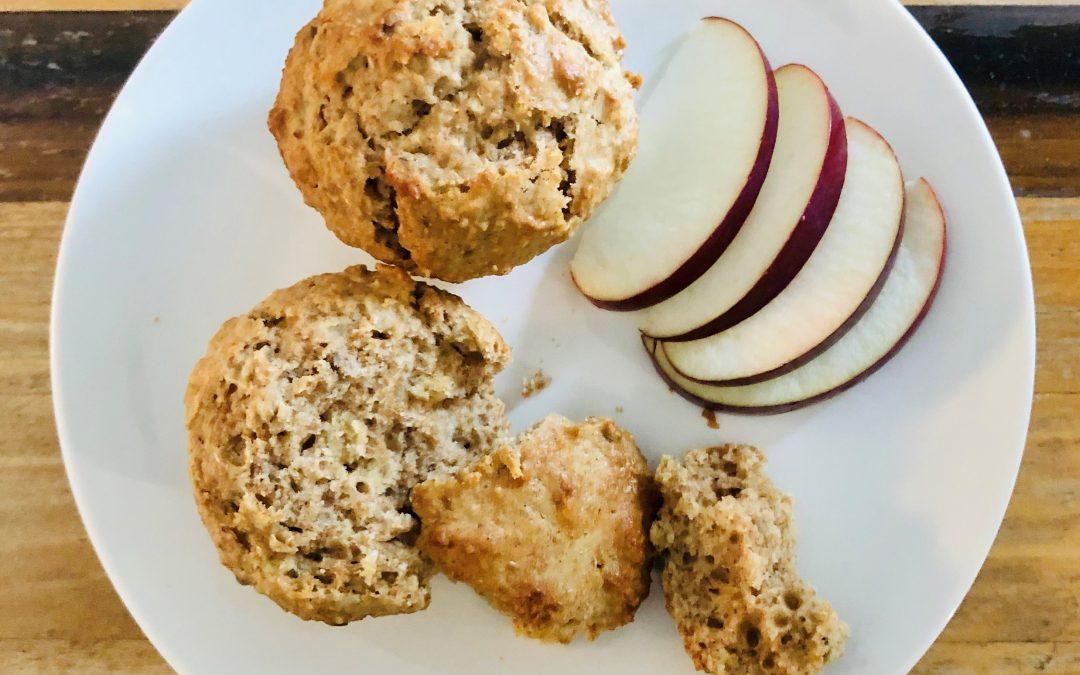 Muffins au son, érable et pomme